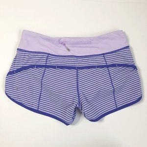 Lululemon | Speed Short Iris Flower Purple Stripe